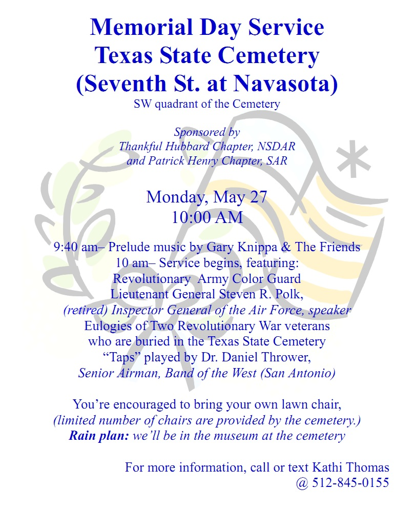 Memorial Day Service 2013