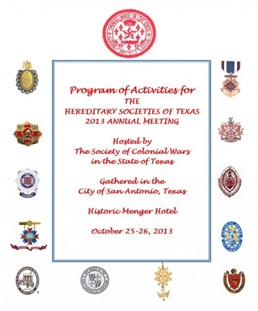 Hereditary Societies 2013