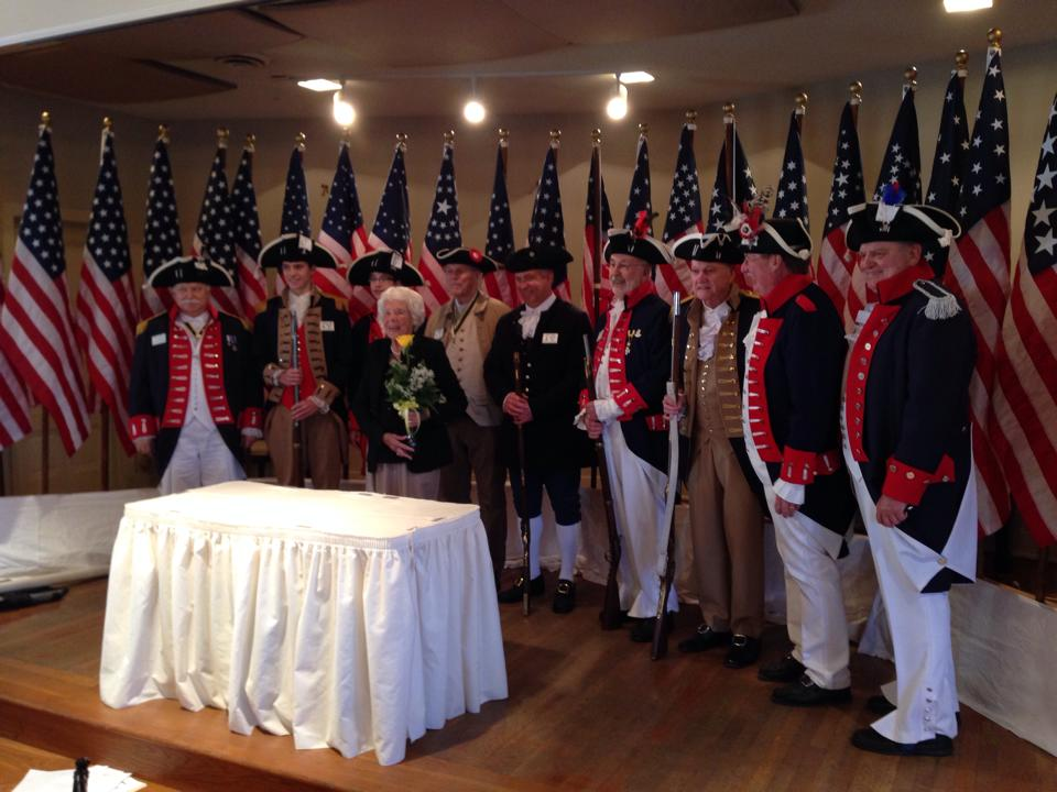 George washinton's luncheon picture with georgine stauffer 2014