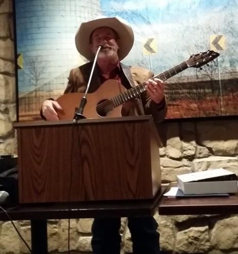 K. R. Wood Singing Texas Ballads