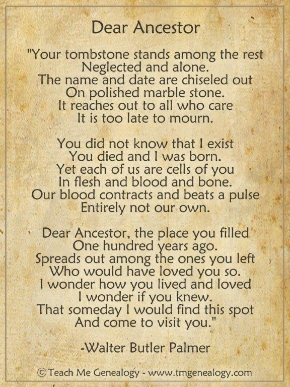 Dear ancestor poem (2)