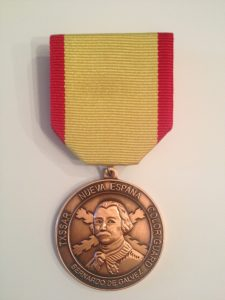 Bronze Bernardo De Galvez Color Guard Medal
