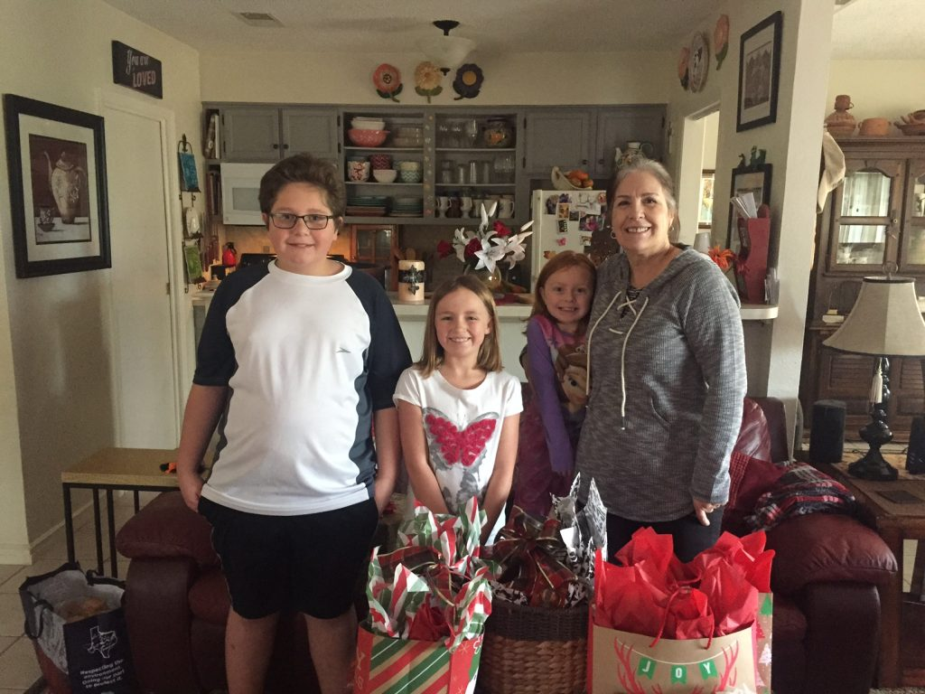 Holden Family with Gifts