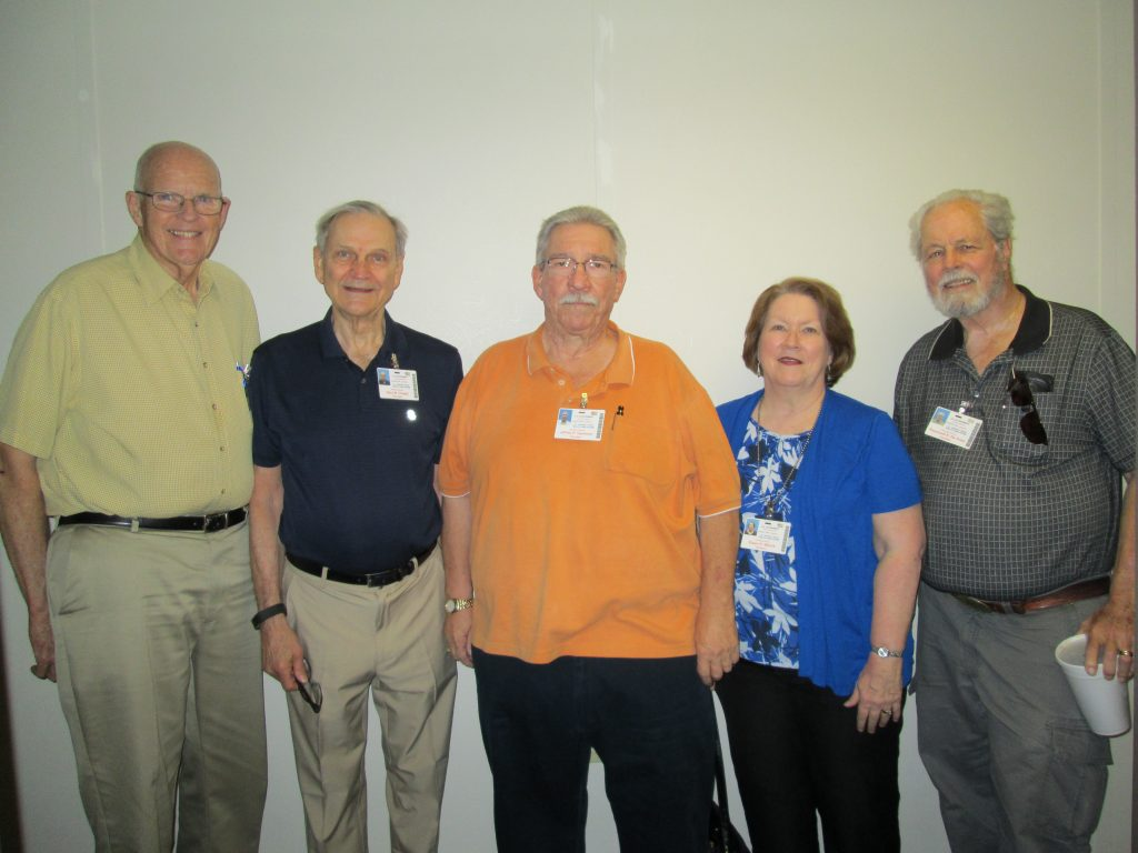 Volunteers L to R Jim Nelson, Gary Chapel, Jeff Gammon, Eileen Walcik, & Ray DeVries